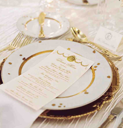 Couture/Custom Foil Stamped Wedding Invitations Pricing