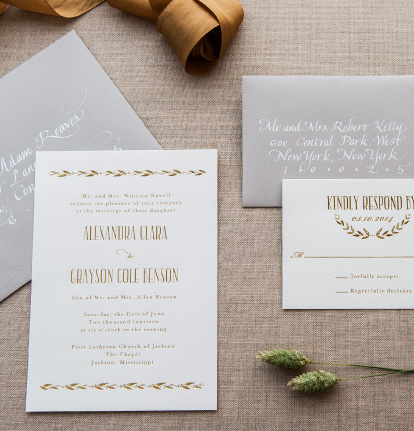 Customization Options | Liners, Foils, Inks, Ribbon, and Monograms.