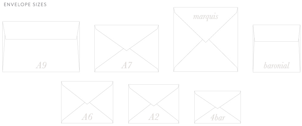 Envelope Sizes | A9, A7, A2, 4-bar