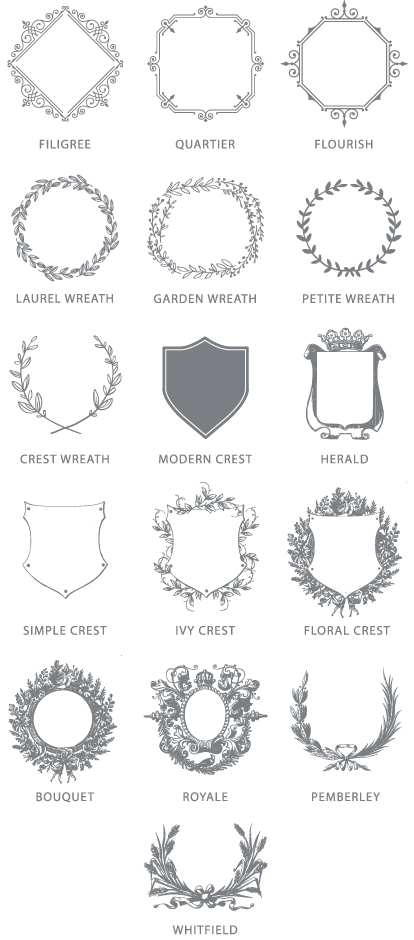 Monogram Options | Frame Styles