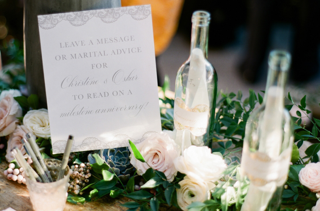 Elegant Wedding Table Signage