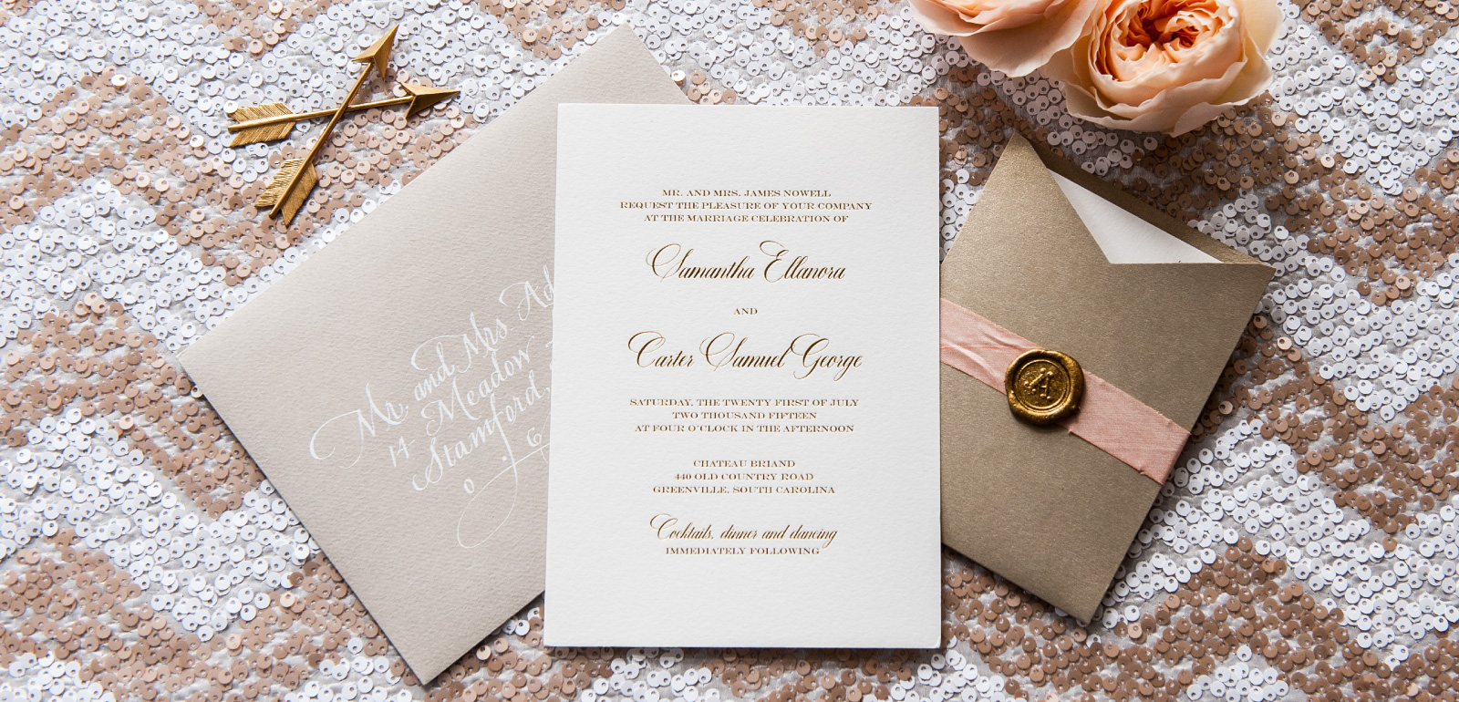 Gold and Silver Foil Wedding Invitations | Foiled Invitations