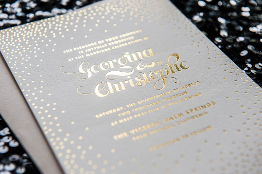 stella foil wedding invitation foiled invitations