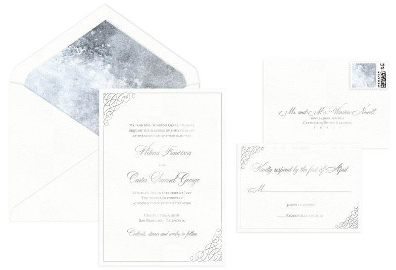 Clare Foil Stamped Wedding Invitation | Classic