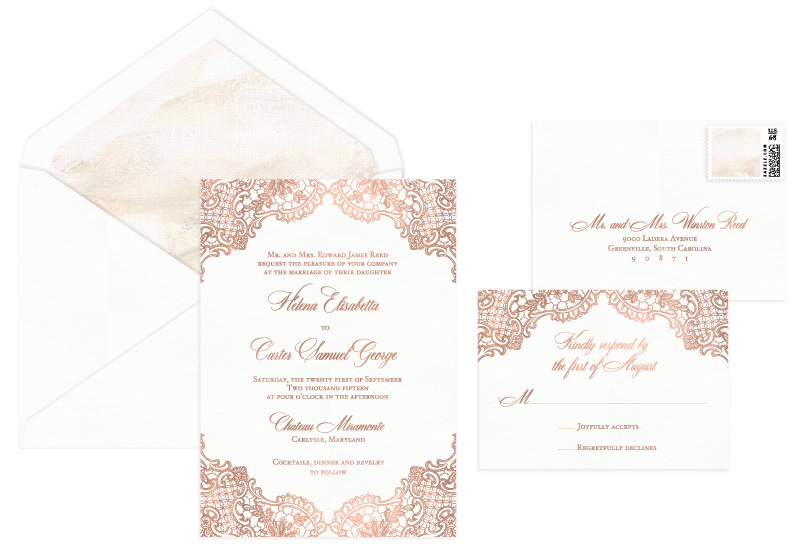 Perla Foil Stamped Wedding Invitation | Classic