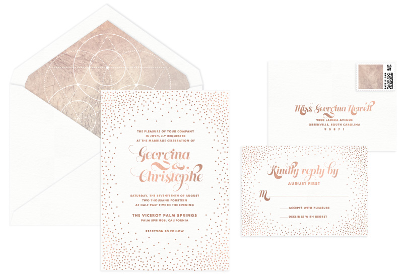 Stella Foil Stamped Wedding Invitation | Modern
